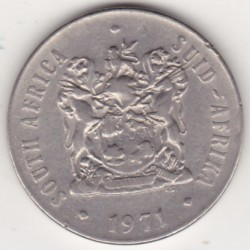 SOUTH AFRICA 50 CENTS 1971