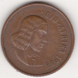 SOUTH AFRICA 1 CENTS 1966