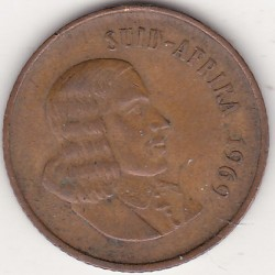 SOUTH AFRICA 2 CENTS 1969