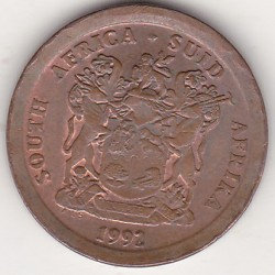 SOUTH AFRICA 5 CENTS 1992