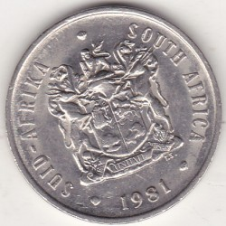 SOUTH AFRICA 20 CENTS 1981